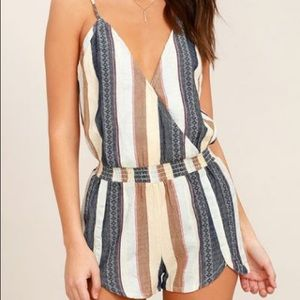 O'Neill Pants - O'Neill Striped Romper NEW WITH TAGS!